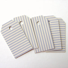 Striped gift tags