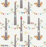 Woodland Party Organic Cotton Fabric