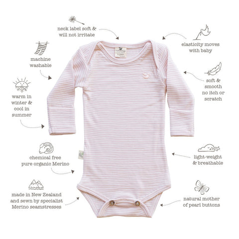 Features of Roots & Wings Merino garments