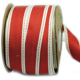 Cotton Ribbon - Red Stripe
