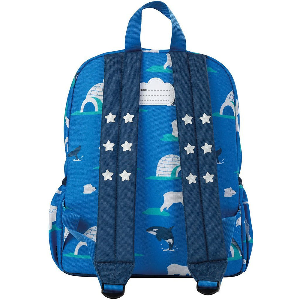 Baby Gift Works - Frugi Adventurers Backpack - Polar Play rear