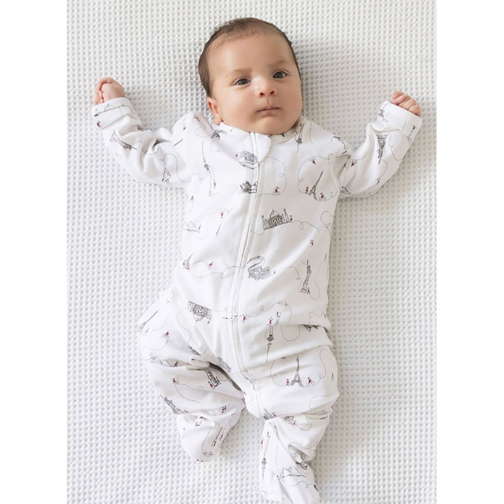 Growsuit | Organic Cotton | All in One | Around the World - Grey