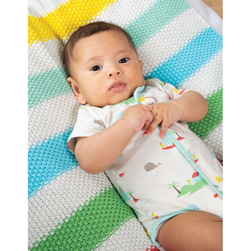 Frugi Welcom Home Blanket with baby