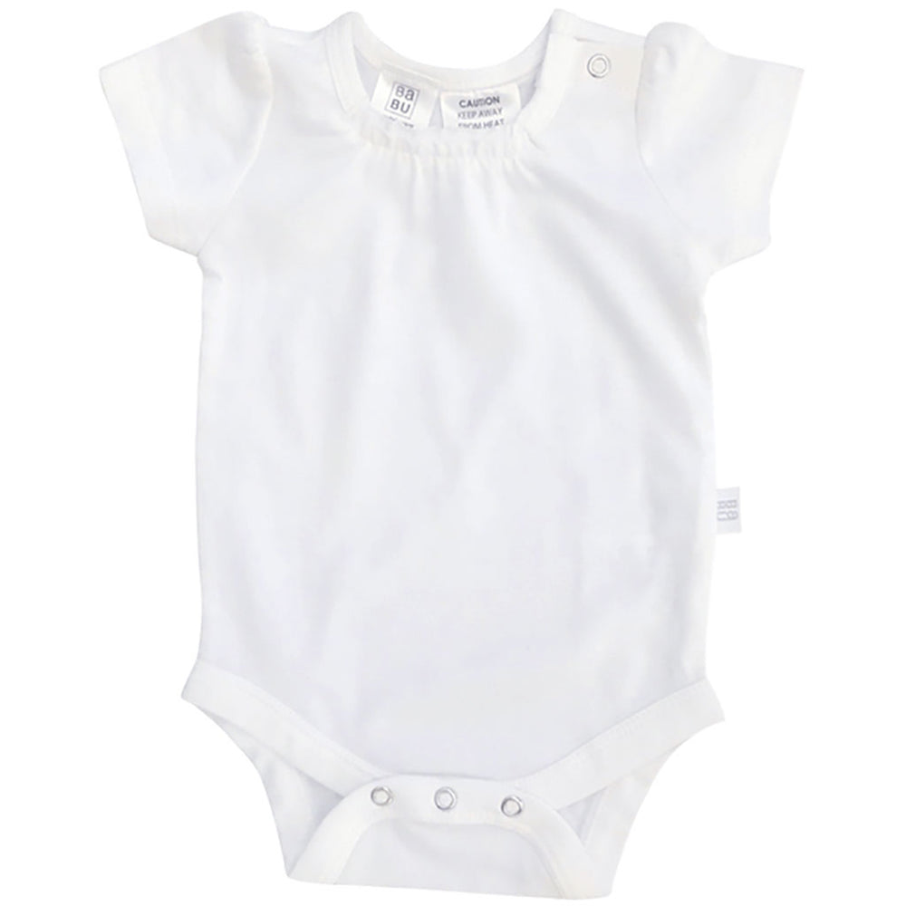 Babu long sleeve bodysuit - white - Baby Gift Works