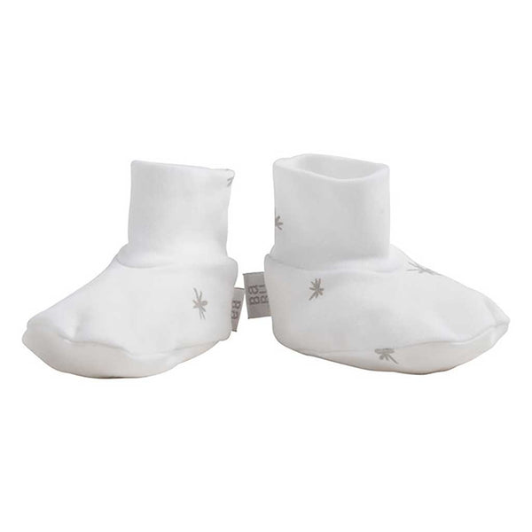 Babu booties - grey star - Baby Gift Works