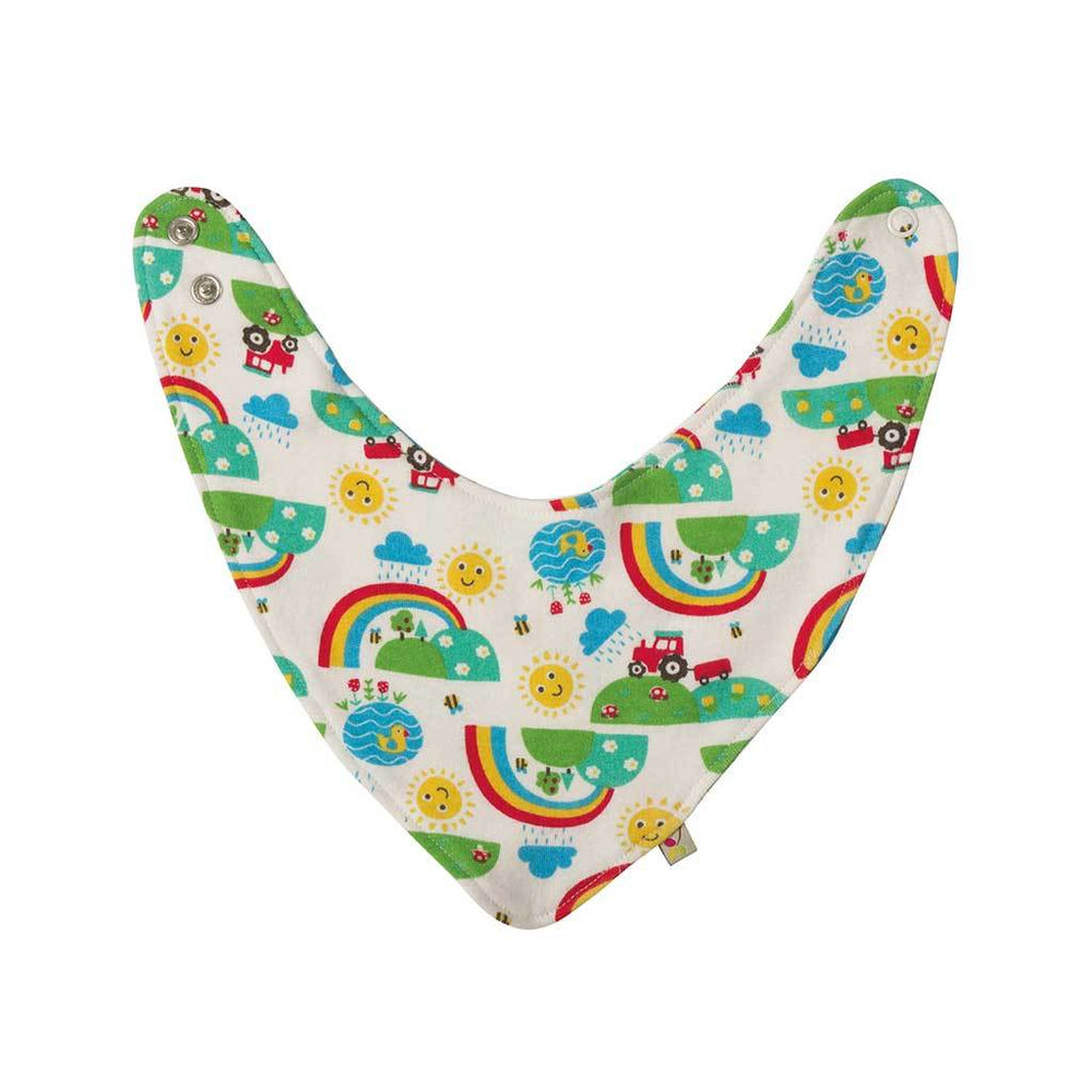 Baby Gift Works - Frugi baby dribble bib - Happy Days
