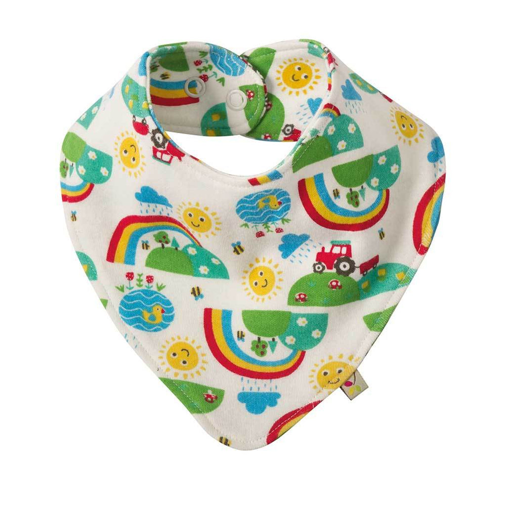 Baby Gift Works - Frugi dribble baby bib - Happy Days