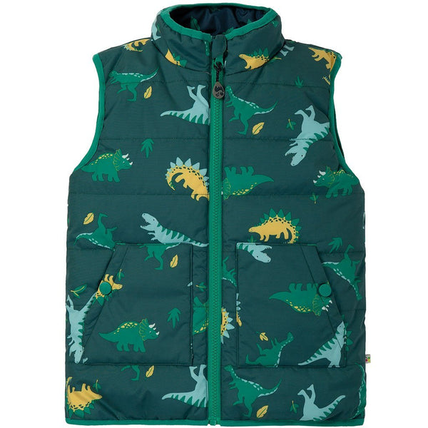 Baby Gift Works - Frugi Giant Dino Field toddler Gilet