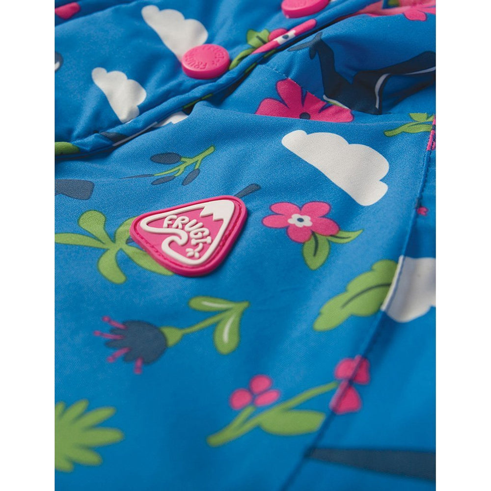 Baby Gift Works - Frugi sail blue fly high waterproof coat detail