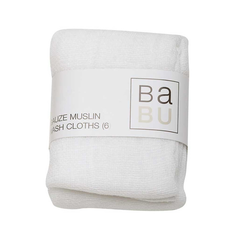 Babu cotton wash cloths - white
