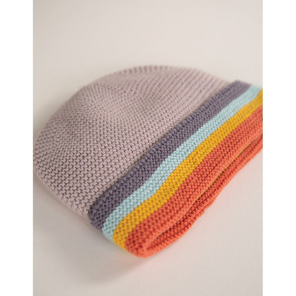 Frugi Harlow Knitted Baby hat flatlay