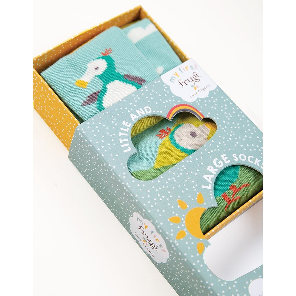 Frugi little & large socks box open