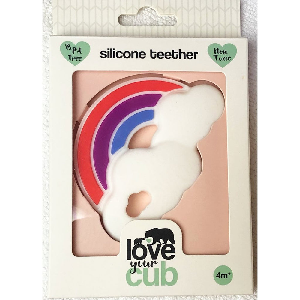 Love your Cub silicone teether - rainbow