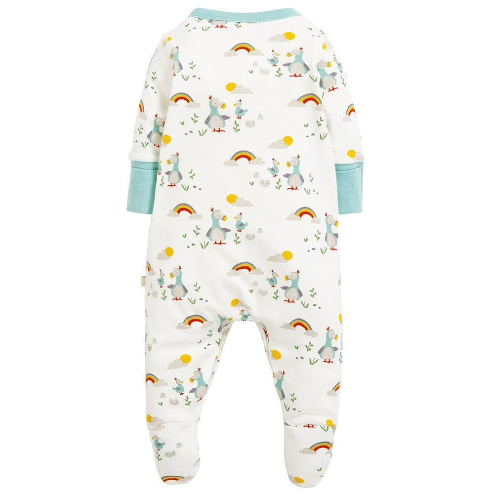 Frugi organic baby growsuit - delightful dodos - rear