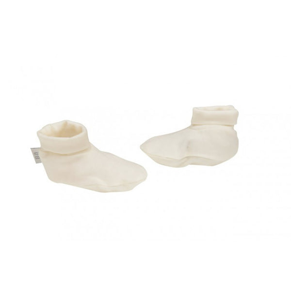 Babu Merino Booties - Cream - Baby Gift Works