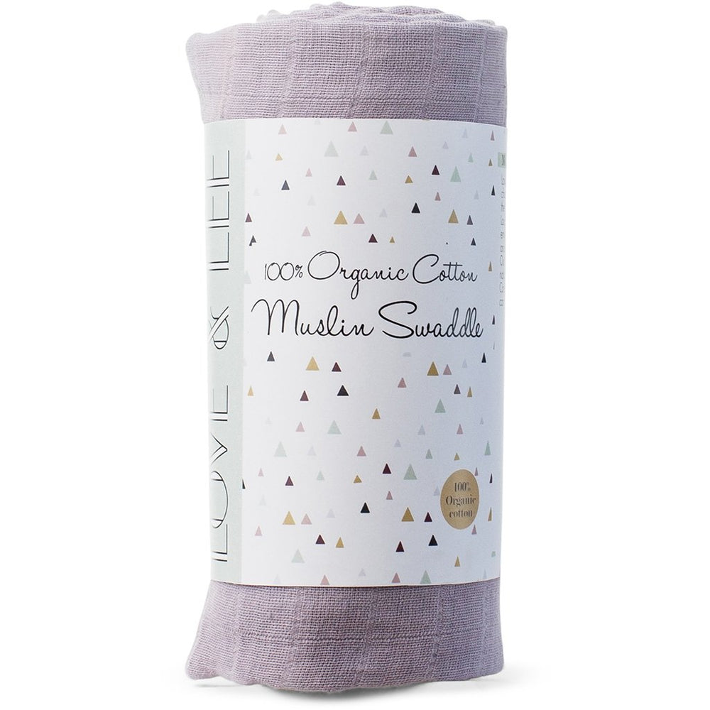 Love & Lee organic baby swaddle - lilac
