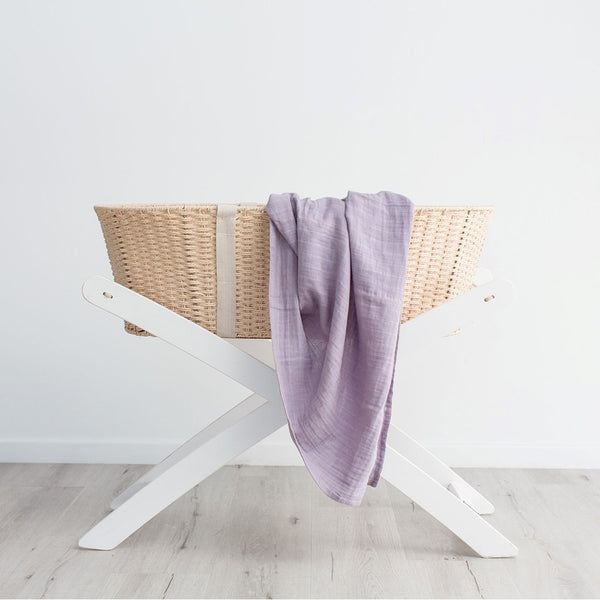 Love & Lee organic muslin wrap lilac