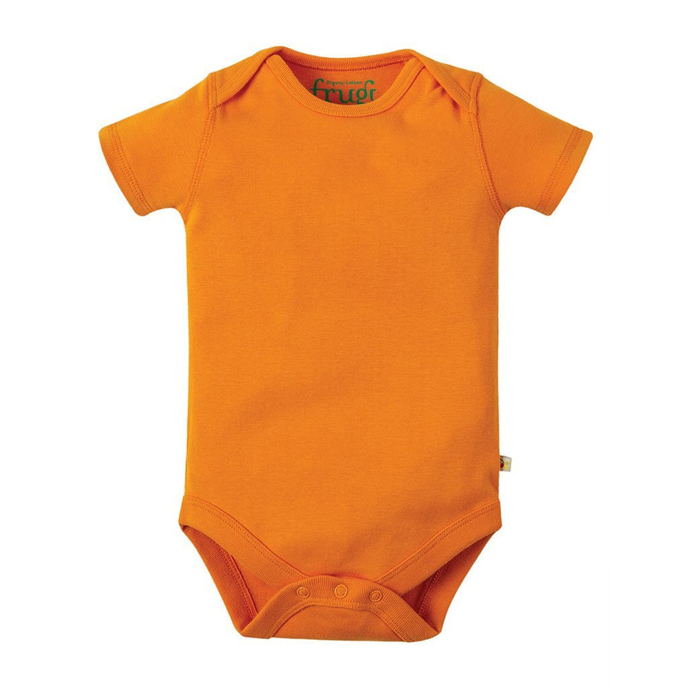 Frugi organic cotton baby bodysuit - orange