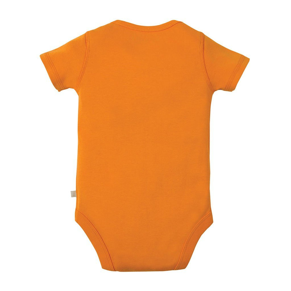 Frugi organic cotton baby bodysuit - orange rear