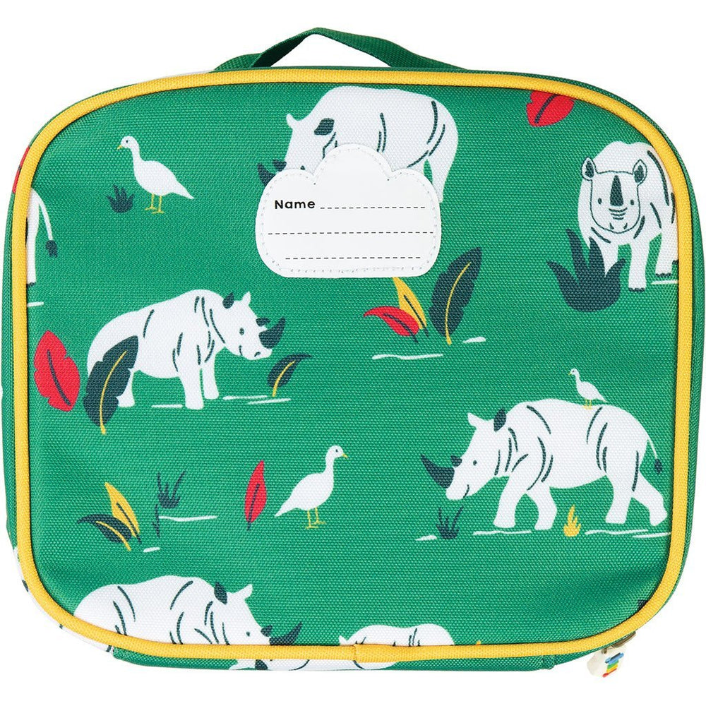 Baby Gift Works - Frugi Lunch Snack Bag - Rhino Ramble rear
