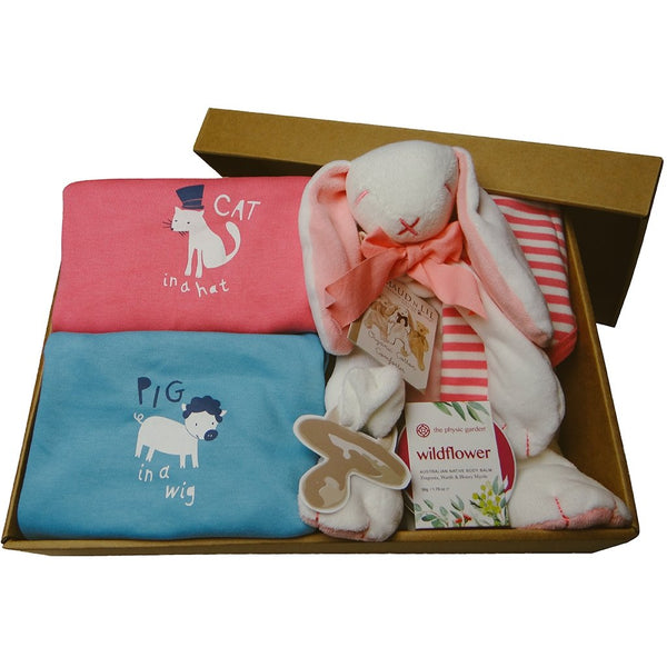 Hello Baby! | Luxury Mum & Baby | Organic | Baby Gift Box Hamper with lid
