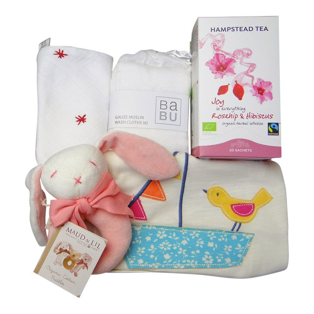 Welcome Little One Pink Baby Gift Box
