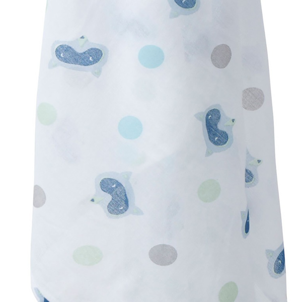 Piccalilly organic baby muslin - racoon detail