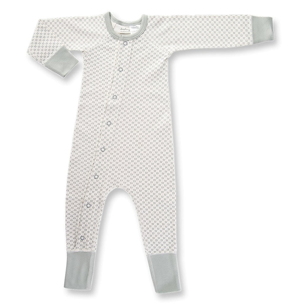 Sapling Child organic baby romper - grey