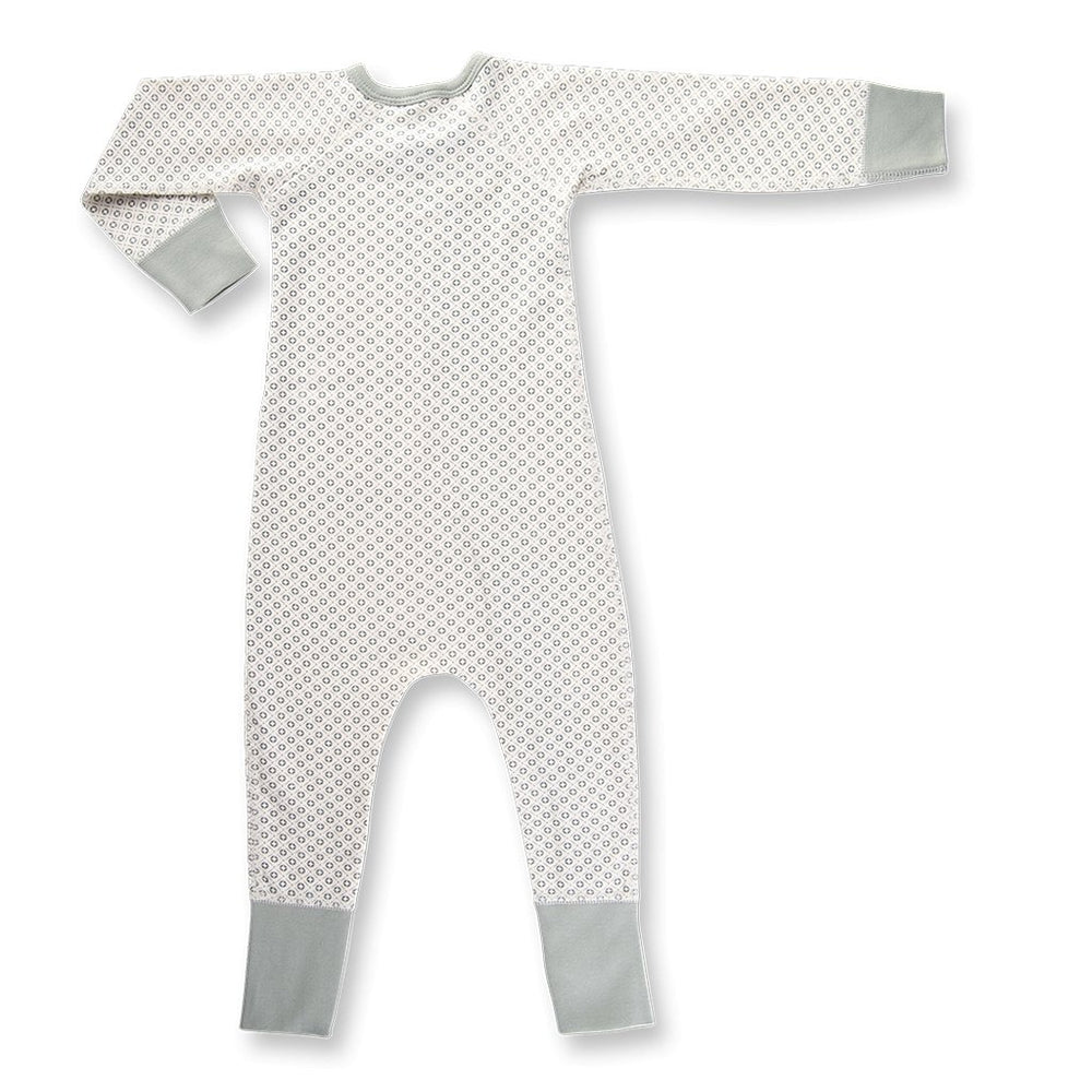Sapling Child organic baby romper - grey rear