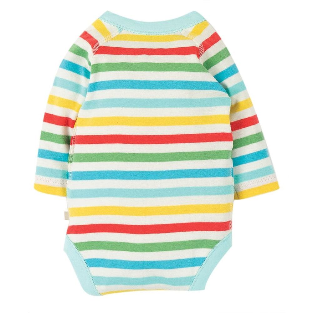 Rear Frugi organic baby body - shay rainbow