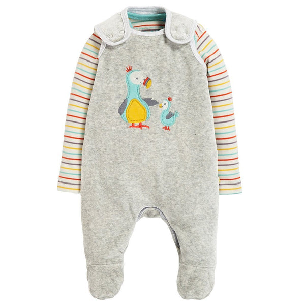 Frugi snuggly velour outfit -dodos