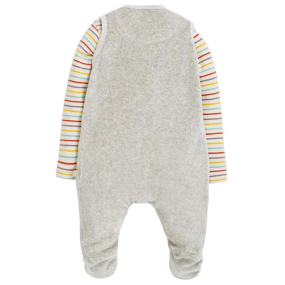 Frugi snuggly velour outfit -dodos - rear