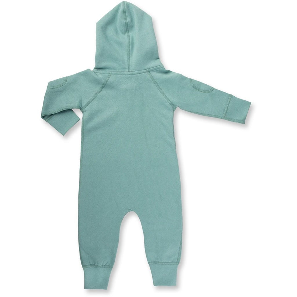 Sapling organic baby romper - winter green rear