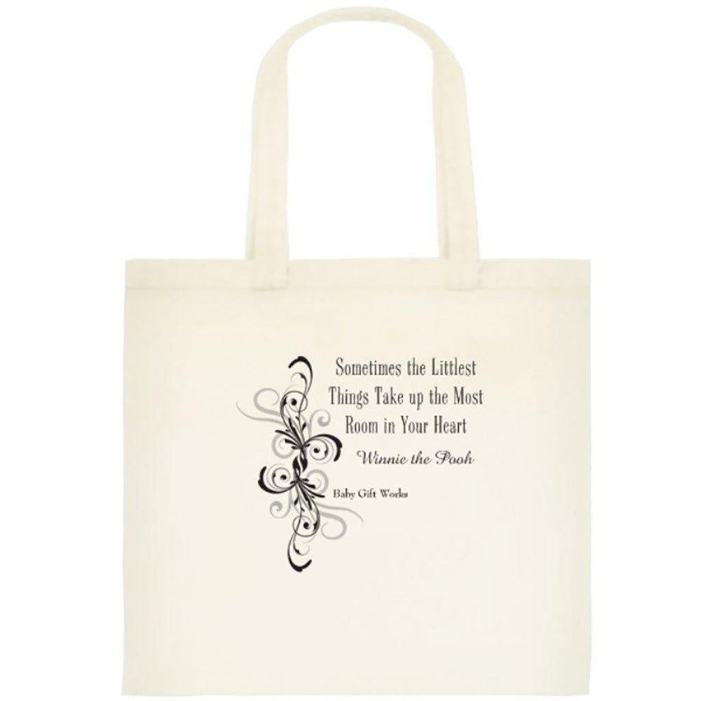 Add a Cotton or Jute Gift Tote Create your own Baby Gift Works Cotton Tote Bag - Small Things