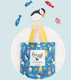 Add a Cotton or Jute Gift Tote Create your own Baby Gift Works Frugi - Puffins Tote