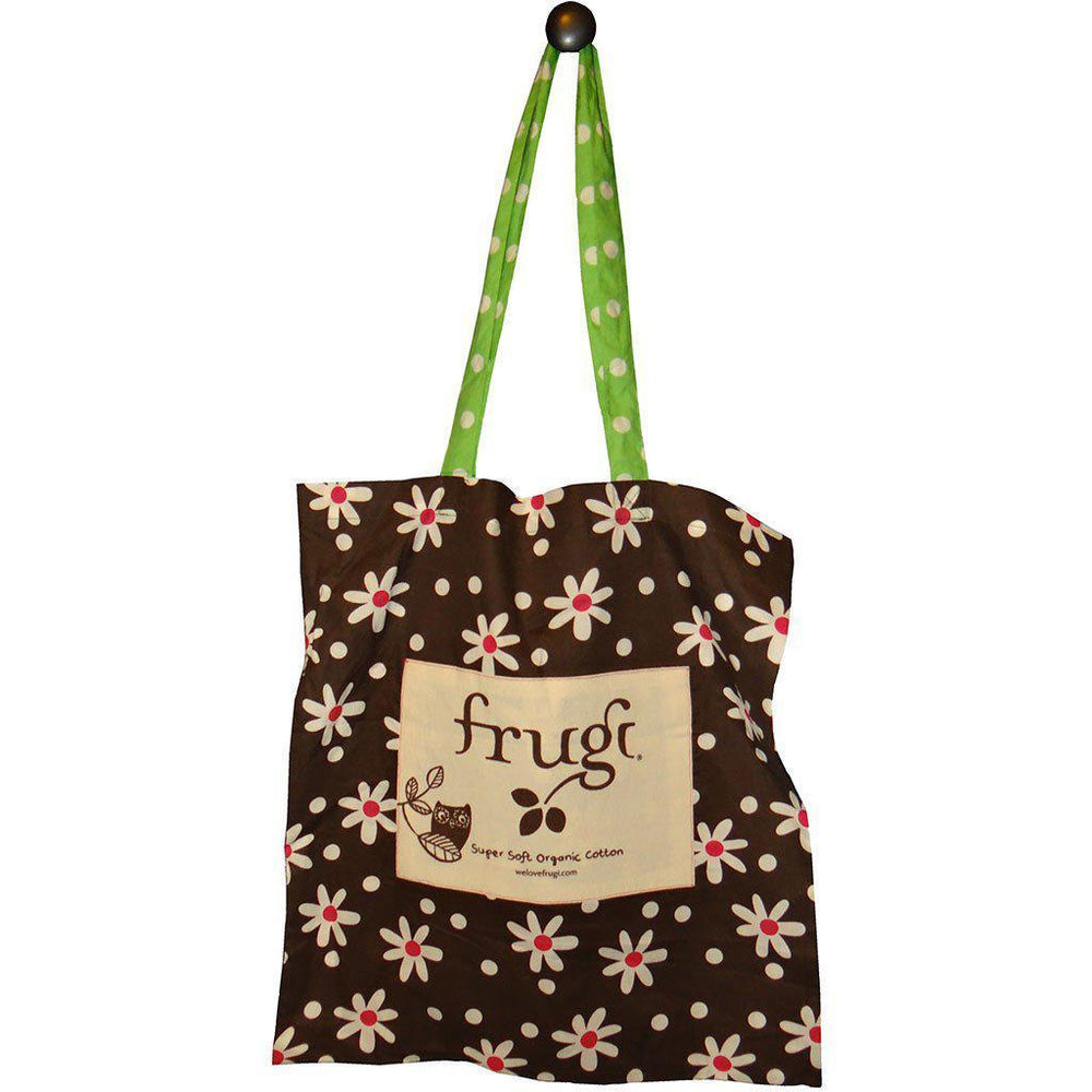 Add a Cotton or Jute Gift Tote Create your own Baby Gift Works Organic Tote Bag - Brown Daisy