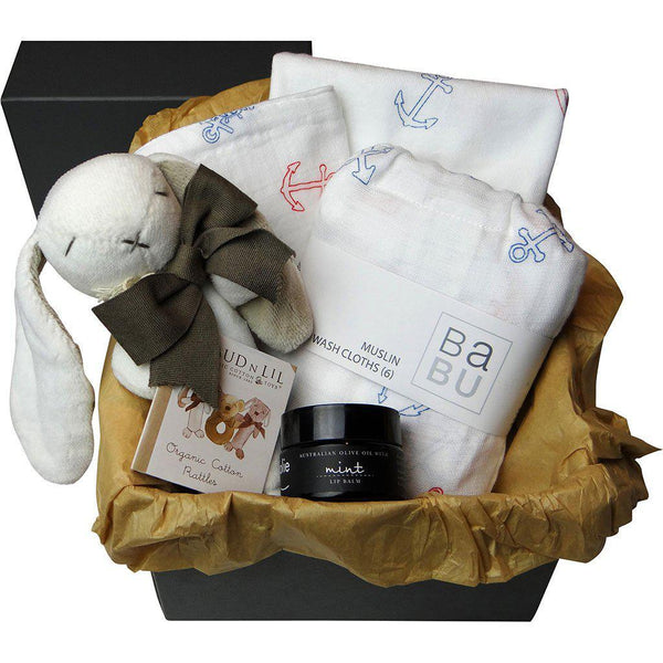 Anchors | Baby Gift Box | Organic Cotton | Luxury Mum & Baby GIft Gift Box Baby Gift Works