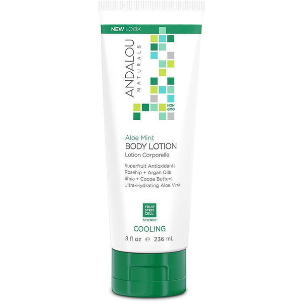 Andalou Naturals | Organic Ingredients | Body Lotion | Aloe Mint | Cooling | 236mL Skin Care Andalou Naturals