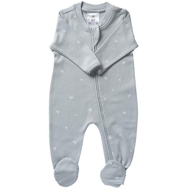 Babu | Organic Cotton | All-in-one | Zip | Coastal | Plain or with White Star Growsuit Babu Newborn With white star