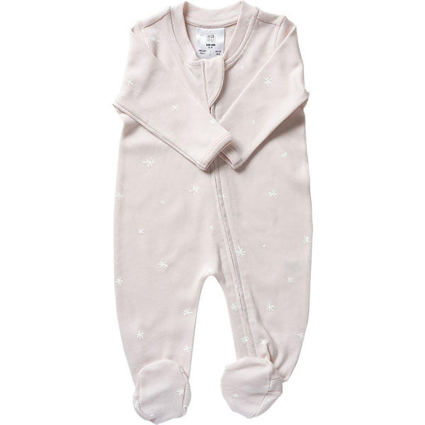 Babu | Organic Cotton | All-in-one | Zip | Shell | Plain or with White Star Growsuit Babu Newborn With white star