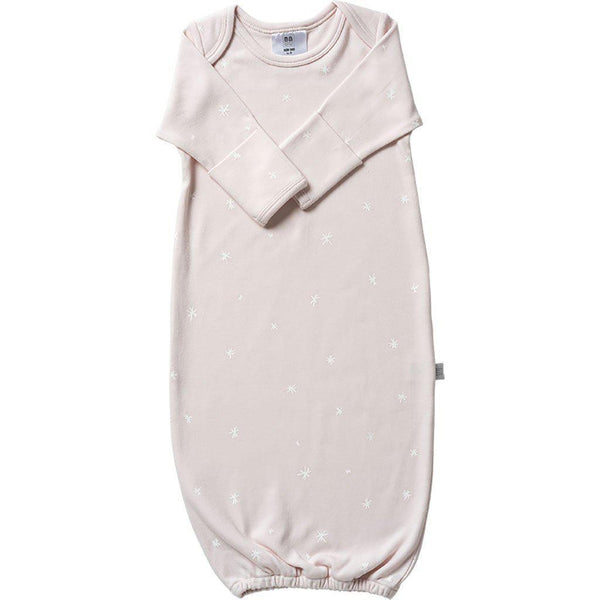 Babu | Organic Cotton | Baby Bundler (Sleep Sac) | Shell Pink | Plain or with White Star Sleep Sac Babu Newborn Shell (White Star)