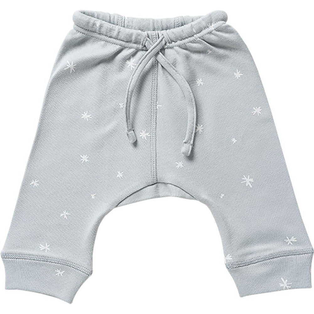 Babu | Organic Cotton | Baby Drop Crotch Pants | Coastal | Plain or Star Pants Babu Newborn With White Star