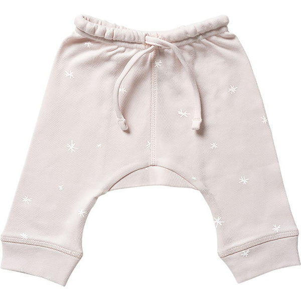 Babu | Organic Cotton | Baby Drop Crotch Pants | Shell | Plain or Star Pants Babu Newborn With White Star