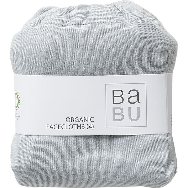 Babu | Organic Cotton | Face Washers | 4 Pack | Coastal or Coastal Star Wash Cloths Babu Coastal