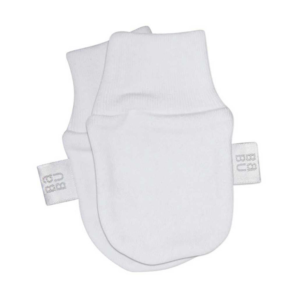 Babu - Organic Cotton - Scratch Mittens - Various Designs Mittens Babu White