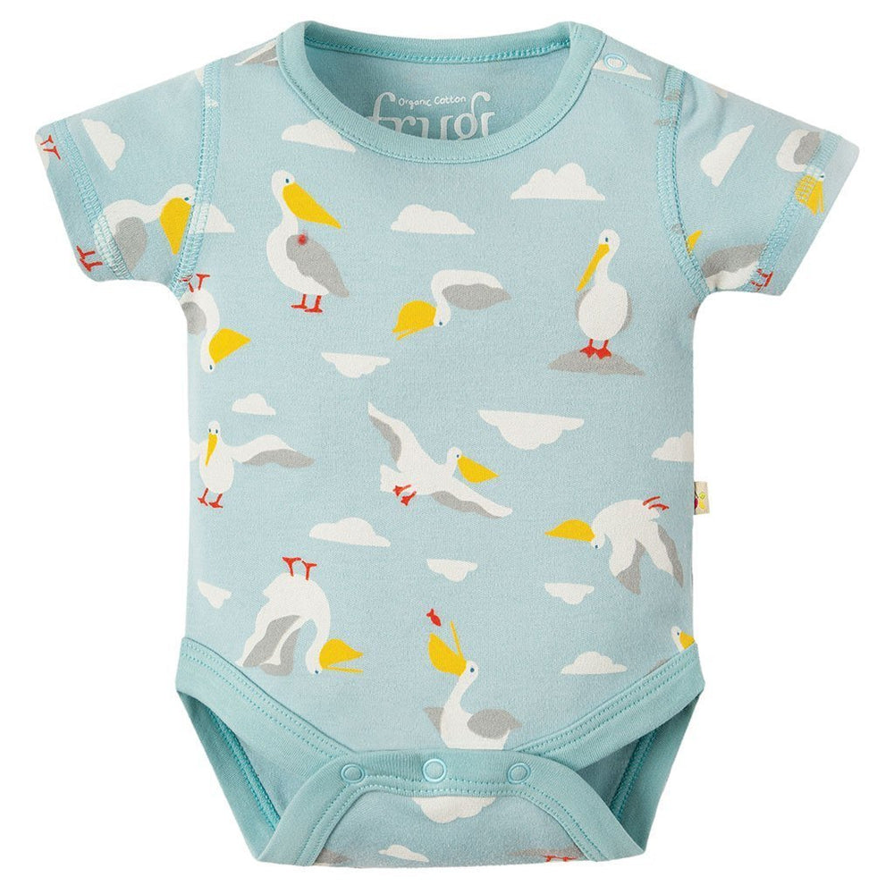 Bailey 2 Pack Bodies | Organic Cotton | Pelican Party Multipack Bodysuit Frugi