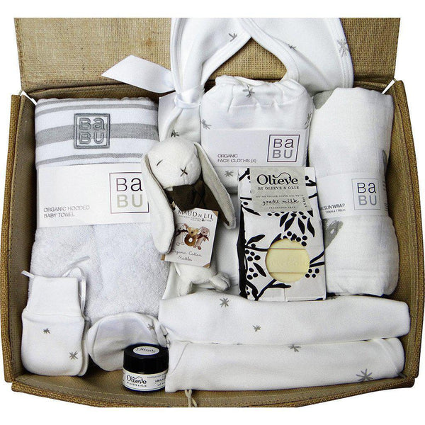 Beautiful Mum and Baby Gift Hamper - Boy or Girl - Luxury Organic Essentials Hamper Baby Gift Works