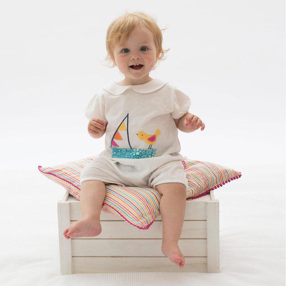 Bunting Boat Romper | Organic Cotton | Kite Clothing Romper Kite