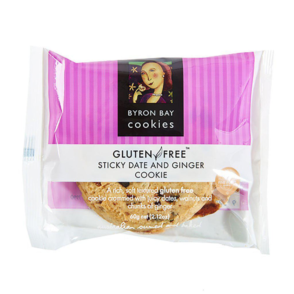 Byron Bay Cookies | Gluten Free | Sticky Date and Ginger Cookie | Single Snacks Byron Bay Cookies