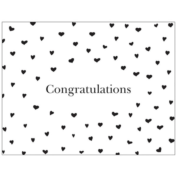 Congratulations | Medium Folded Gift Card | Recycled Matte Paper | Hearts Gift Card Baby Gift Works